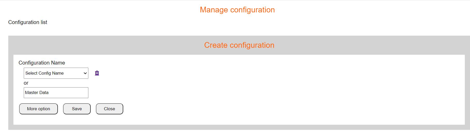 Add Configuration